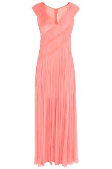 Willow Angle Rouched Drape Gown - Lyst