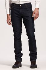 Yves Saint Laurent Slim Navy Jeans - Lyst