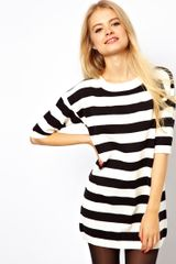 Asos Striped Knit Tshirt Dress