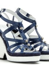 Balenciaga Trainer Espadrille Wedge Sandals - Lyst