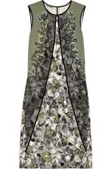 Bottega Veneta Embellished Stretch-silk Dress - Lyst