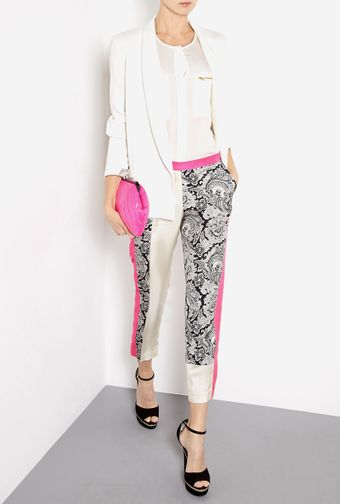 By Malene Birger Folippa Silk Paisley Colour Block Trousers - Lyst