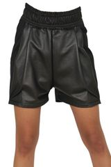 Damir Doma Leather and Coated Cotton Fleece Shorts - Lyst