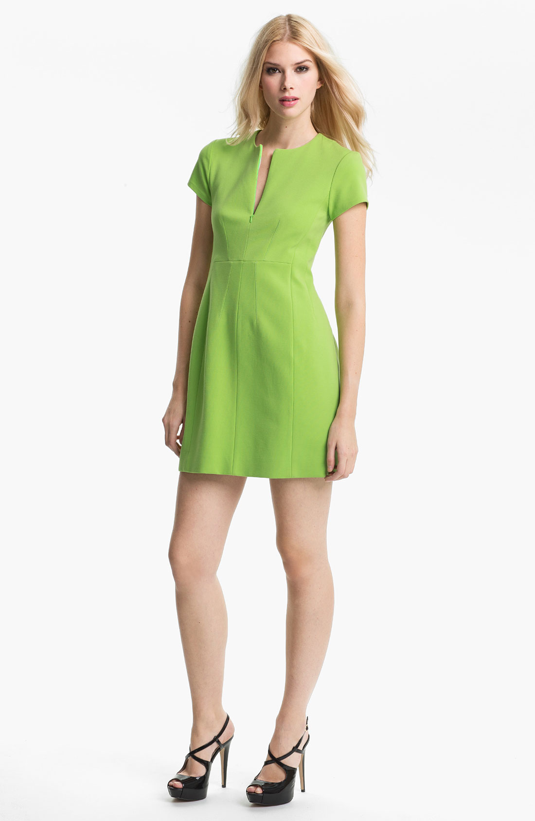 Diane von furstenberg agatha knit sheath dress in green for Diane von furstenberg clothes
