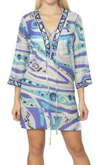Emilio Pucci Printed Silk Cotton Voile Dress - Lyst