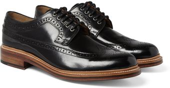 Grenson Sid Highshine Leather Brogues - Lyst