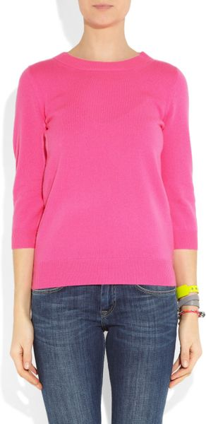 Neon Pink Cashmere Sweater
