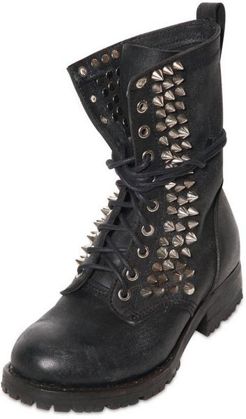 Jeffrey Campbell 40mm Halen Spiked Leather Boots in Black for Men - Lyst