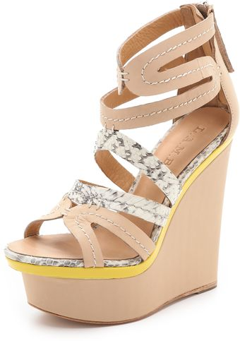 L.a.m.b. Jenelle Wedge Sandals - Lyst