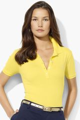 Lauren by Ralph Lauren Short Sleeve Polo - Lyst