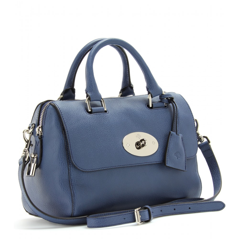 b1ff204ab25 Mulberry Small Del Rey Leather Shoulder Bag in Blue - Lyst