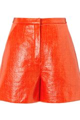 Roksanda Ilincic Glossed Tweed Breton Shorts