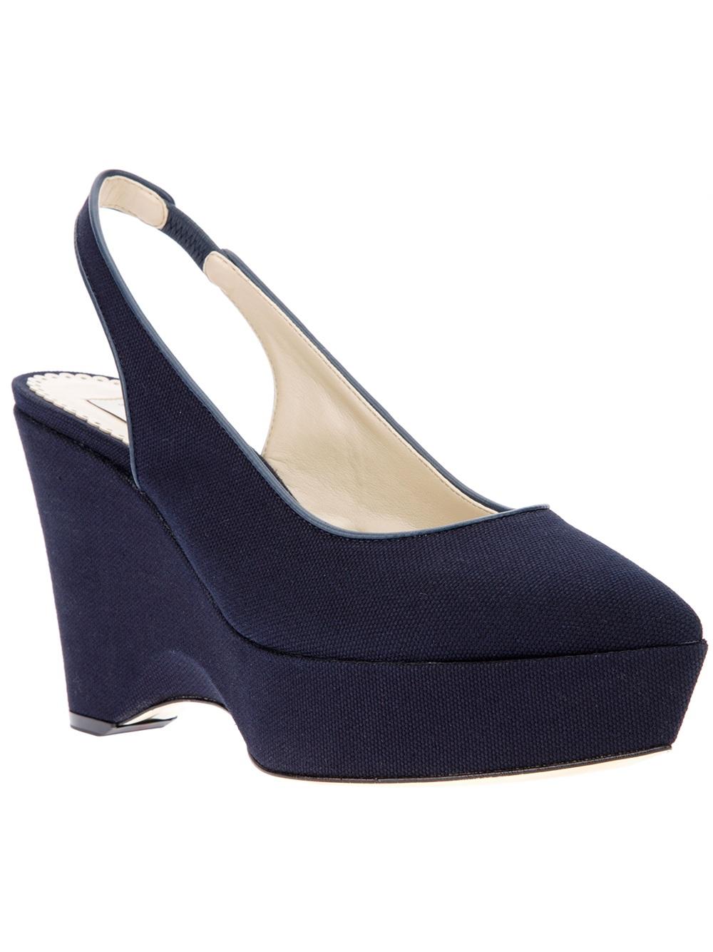 authentic sale online Stella McCartney Canvas Wedge Sandals outlet best jpedq2ns9