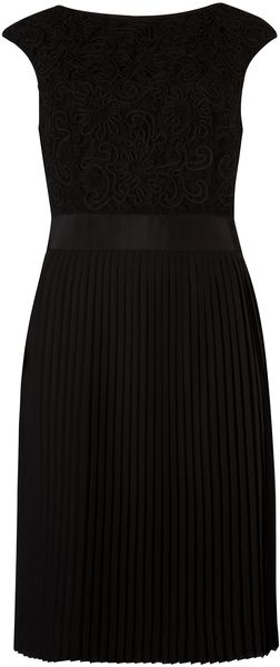 Ted Baker Aliana Lace Detail Button Back Dress - Lyst