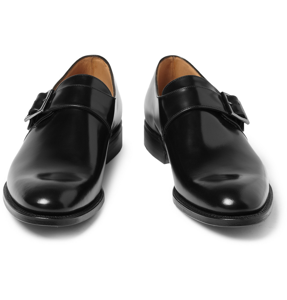 Church S Tokyo Leather Monk Strap Shoes In Black For Men