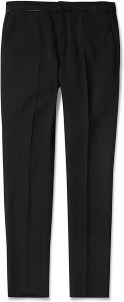 Givenchy Slimfit Leathertrimmed Wool Trousers - Lyst