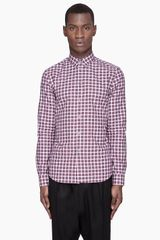 Givenchy  Checkered Print Slim Shirt - Lyst