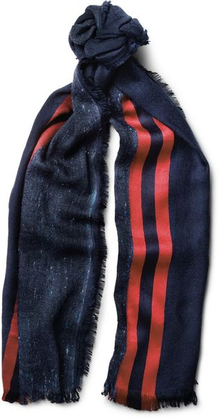 Gucci Striped Silkblend Scarf - Lyst