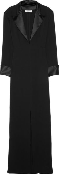 Yves Saint Laurent Silkcady Tuxedo Dress - Lyst