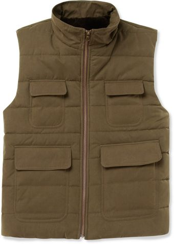 Billy Reid Down Filled Shearling Lined Gilet - Lyst