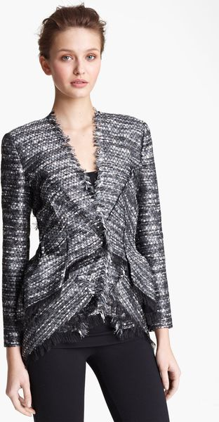 Donna Karan New York Collection Tweed Jacket - Lyst
