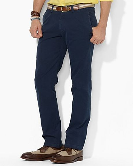 Ralph Lauren Polo Suffield Lightweight Military Chino Pant in Blue for Men (aviator navy)