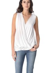 Cut25 By Yigal Azrouël Draped Modal Top - Lyst