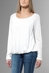 Patrizia Pepe Long Sleeves Tshirt - Lyst