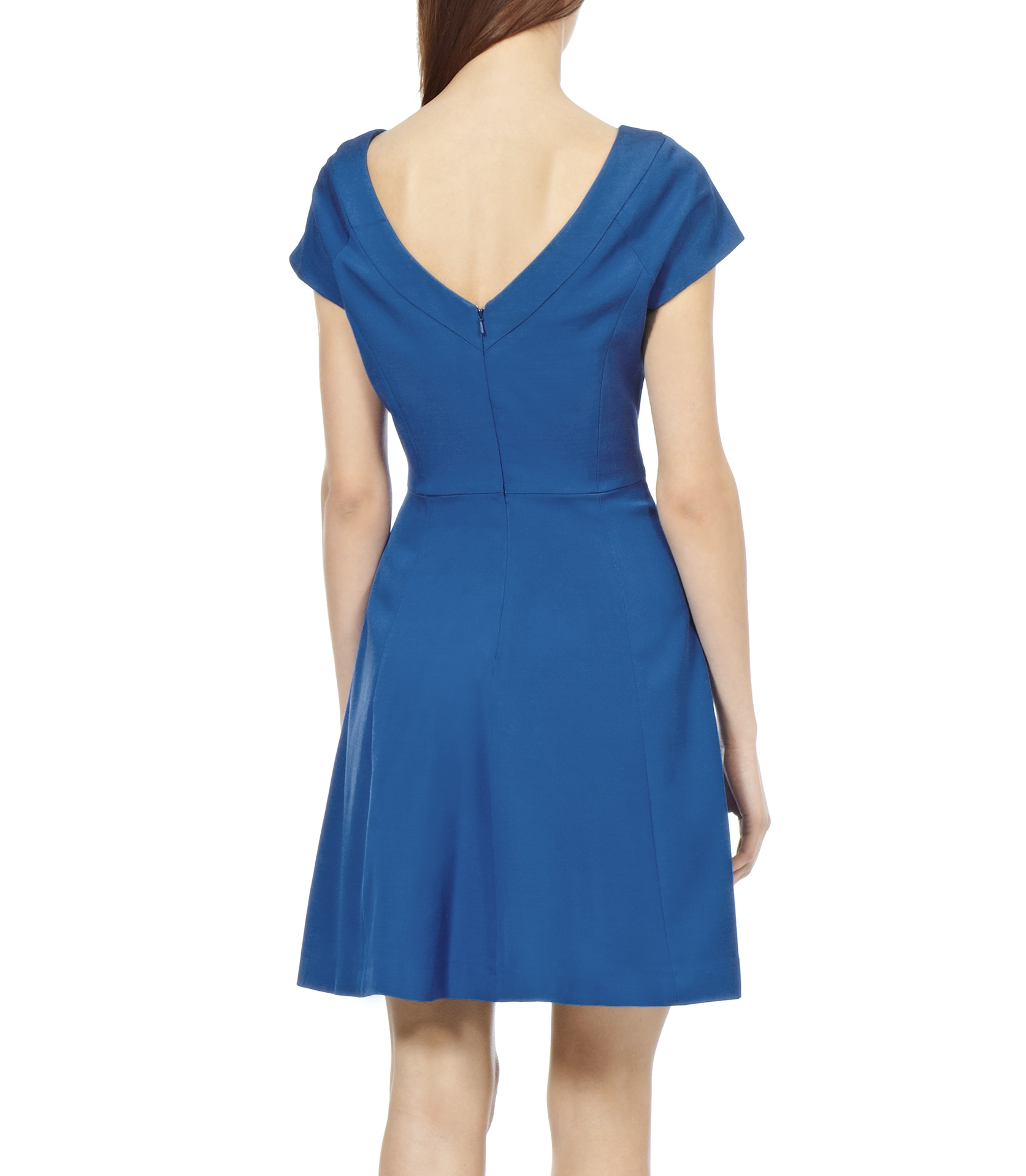 Reiss Jemima Fit And Flare Dress In Blue Lyst