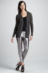 Robert Rodriguez Metallic Leather Cropped Pants - Lyst