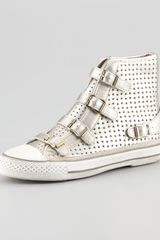 Ash Star Cutout Metallic Hightop Sneaker - Lyst
