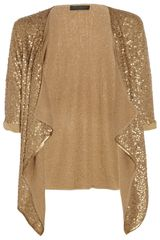 Donna Karan New York Sequined Cashmere and Silkblend Cardigan - Lyst