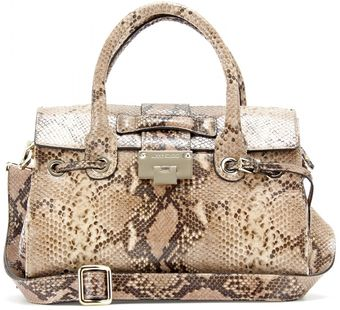 Jimmy Choo Rosalie Snake Embossed Leather Shoulder Bag - Lyst