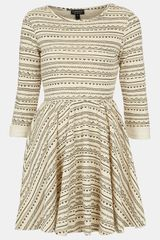 Topshop Textured Skater Dress - Lyst