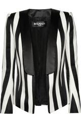 Balmain Striped Satin Blazer - Lyst