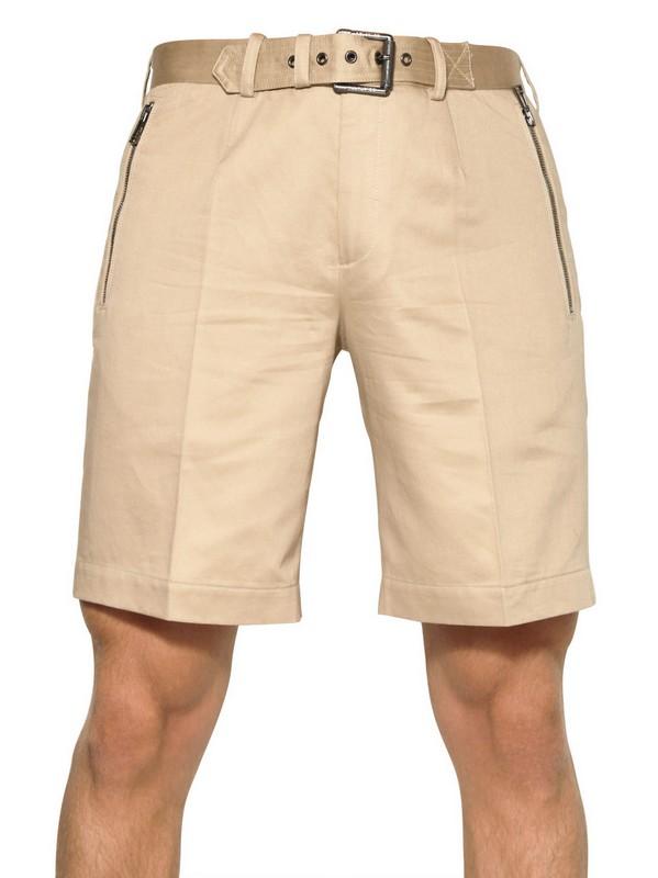 58ea9ec84051 Lyst - Belstaff Cotton and Linen Blend Bermuda Shorts in Natural for Men