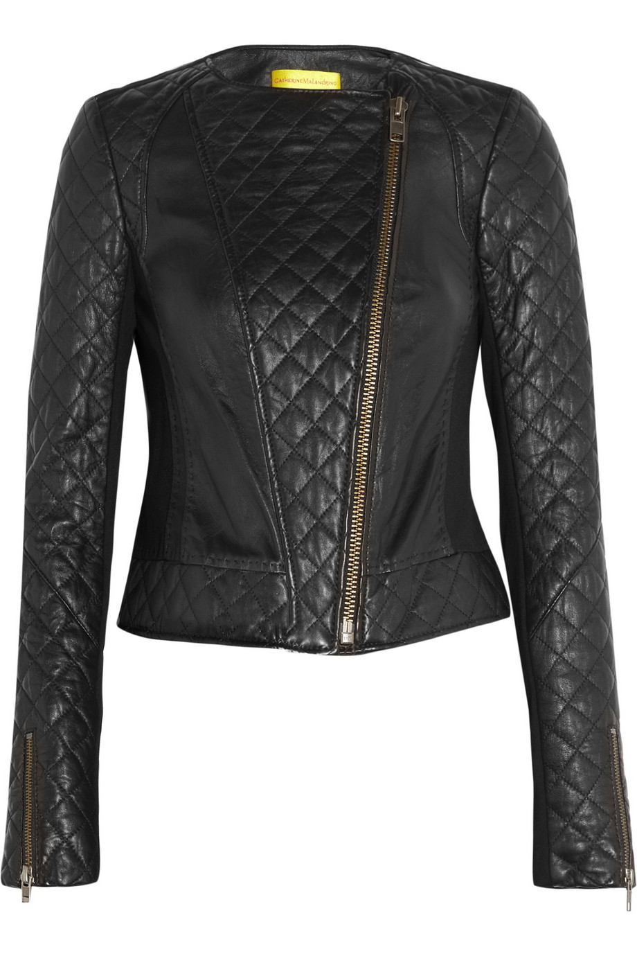 Catherine malandrino Quilted Leather and Stretchponte Jacket in ...
