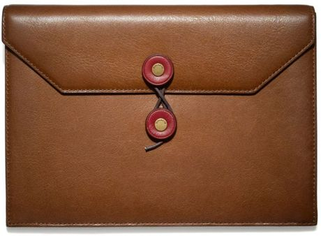 coach bleecker leather chinese new year document holder in With coach document case