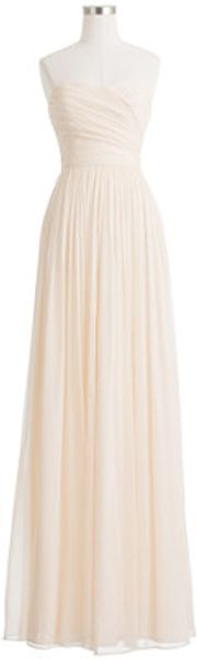 J.Crew Arabelle Long Dress in Silk Chiffon - Lyst