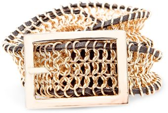 Mango Metallic Mesh Belt - Lyst