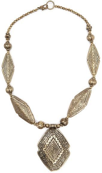Mango Ethnic Style Necklace - Lyst