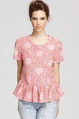 Marc By Marc Jacobs Top Jamie Dot Peplum - Lyst