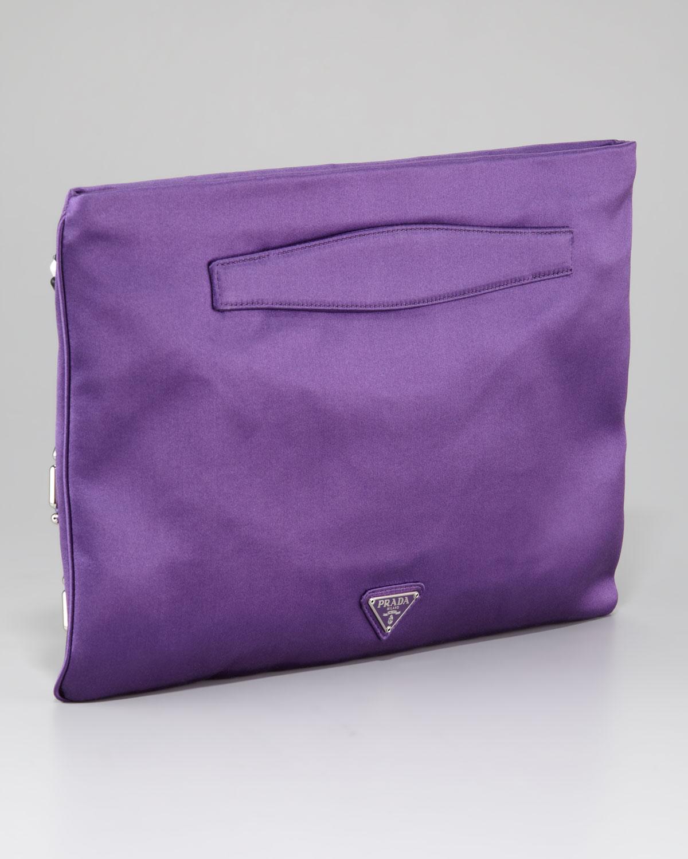 green prada wallet - Prada Jeweled Flat Clutch in Pink (viola)   Lyst