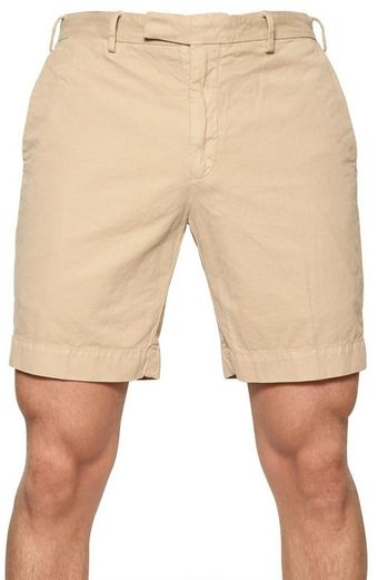 Ralph Lauren Blue Label Cotton Gabardine Shorts - Lyst