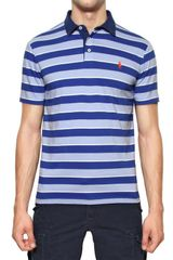 Ralph Lauren Blue Label Striped Jersey Custom Fit Polo - Lyst