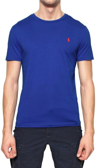 Ralph Lauren Blue Label Cotton Jersey Logo Tshirt - Lyst