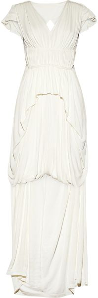 Sophia Kokosalaki Philotes Pleated Stretch crepe Gown - Lyst