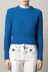 Acne Lia Waffleknit Sweater in Blue (cobalt) - Lyst
