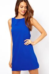 ASOS Collection Shift Dress with Keyhole Detail - Lyst