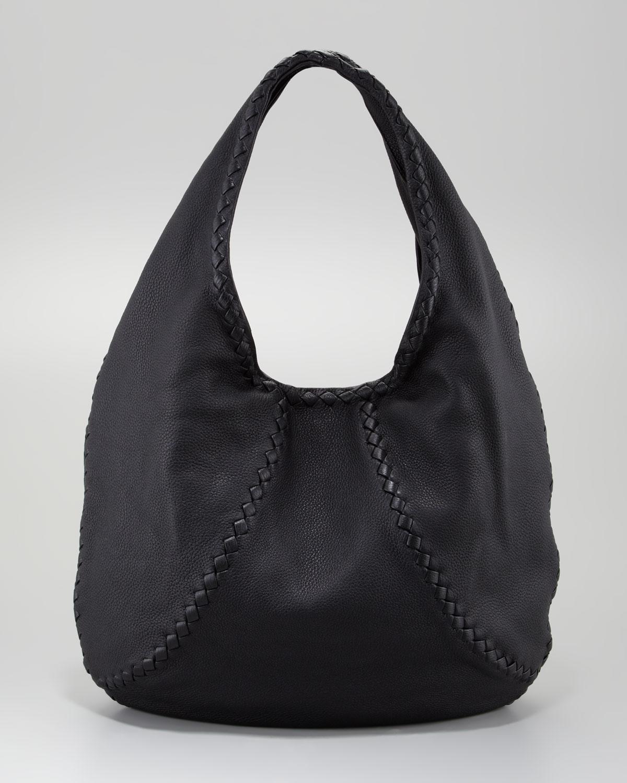 Bottega Veneta Cervo Large Hobo Bag In Black Lyst